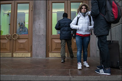 DR151210_0692D (dmitryzhkov) Tags: porch terminal station railway step steps stair stairway pretty prettywoman two couple look looks eye eyecontact eyes contact glass entrance exit door motion movement walk walker walkers day daylight art city europe russia moscow documentary journalism street streets urban candid life streetlife citylife outdoor outdoors streetscene close scene streetshot image streetphotography candidphotography streetphoto candidphotos streetphotos moment light shadow people citizen resident inhabitant person portrait streetportrait candidportrait unposed public face faces man men woman women lady