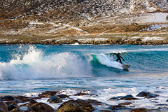Lofoten Surfer (Nepomuk22) Tags: lofoten norwegen strand surfer unstad winter nordland no