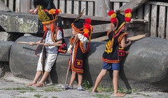 Young Nias warriors (Hannes Rada) Tags: indonesia nias island bawomataluo kids