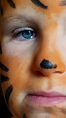 The eye of the tiger (Dannis van der Heiden) Tags: son boy face paint tiger eye closeup samsungs8 portrait painted brightcolors colors persona