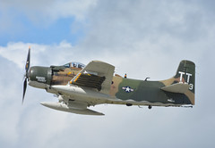 DSC_1165a Douglas A-1 AD-4N 126959 NX959AD Skyraider Naked Fanny (kurtsj00) Tags: northern illinois airshow waukegan 2017 douglas a1 ad4n 126959 nx959ad skyraider naked fanny