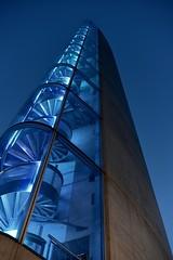 Blue note (vues_de_mon_balcon) Tags: bridge pont chabandelmas bordeaux garonne ouvrage blue bleu détail escalier night france sudouest