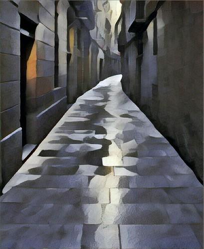 Barcelona street - artsy