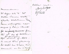 Memorandum between Mrs. Mary Cooper and Walter James Watts to rent Farm at Knapton, Norfolk for 4 Years from 11th October 1895 (North West Kent Family History Society) Tags: memorandum mrsmarycooper walterjameswatts farmer northwalsham rent farm knapton norfolk 4years 11thoctober1895 occupation johnhewitt ecbdcollection born 1857 antinghamparish son irelandwatts susanwatts married sarahlacock 1860 daughter elizabethlacock 1880 1901 pigneyfarm circa1831 foxley sophiaroberts 1888 norwich 1891 farming bawdeswell