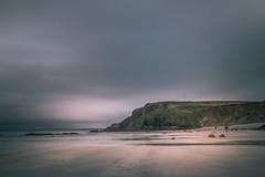 Druidstone (garethleethomas) Tags: beach coast seaside shore shoreline longexposure slowshutter landscape seascape moody sky clouds weather summer uk wales sea sand