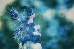bubble fairie (s@ssyl@ssy) Tags: granvilleisland bc vancouver fairie dust blues doubleexposure incamera marbles outside garden