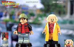Custom LEGO Back to the Future Part II: Marty McFly & Doc Brown (LegoMatic9) Tags: lego back future 2 marty mcfly doc brown 2015