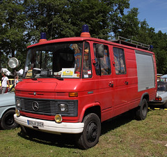 Little Mercedes Fire Truck (Schwanzus_Longus) Tags: bockhorn german germany van bus window vehicle fire fifhting department brigade feuerwehr small little pumper truck engine mercedes benz 613d old classic vintage