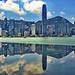 Hong Kong Skyline Reflection