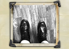 Day 155 of Year 8- Brogues! (Pahz) Tags: 365days selfportrait year8 brogues shoes drmartensbrogues werehere wah wh theroaring20s fakevintagephoto digitalmanipulation
