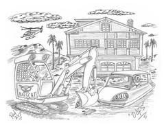 OOPS (rod1691) Tags: bw scifi grey concept custom car retro space hotrod drawing pencil h2 hb original story fantasy funny tale automotive art illistration greyscale moonpies sketch