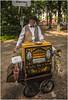 Barrel organist Simsonweg, Berlin (Pitheadgear) Tags: berlin germany deutschland eu organ organist barrelorgan antique musical instrument musicalinstrument musician performer streetmusician