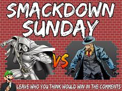 Smackdown Sunday- Moon Knight VS The Question (Luigi Fan) Tags: moon knight marvel vs question dc comics