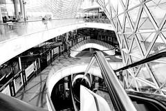 IMG_4961 (Holgi_BS_63) Tags: myzeil frankfurt hessen germany deutschland city stadt indoor street elevator architektur einfarbig monochrome black white