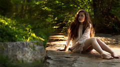 Thylane (Studio Hors-champ) Tags: portrait girl people nature sun summer beautiful fall fashion woman model wood hair sexy one dress outdoors relaxation fair weather