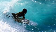 Into the wild... (Sabine-Barras) Tags: people personnes sport bodyboard réunion water eau sea mer océan ocean bleu blue vague wave ombre shadow silhouette