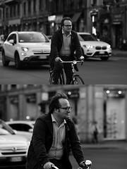 [La Mia Città][Pedala] (Urca) Tags: milano italia 2017 bicicletta pedalare ciclista ritrattostradale portrait dittico bike bicycle nikondigitale scéta biancoenero blackandwhite bn bw 102641