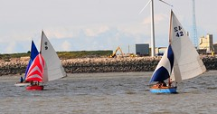 WYC Gibson Cup 22/7/2017 (sab89) Tags: river mersey low tide racing seabird wooden yacht race races new brighton wirral estuary wallasey club sailing spinnacker