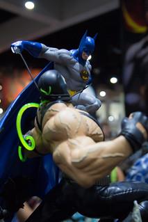 SDCC 2017 - Sideshow Collectible's Booth - Batman vs Bane Statue