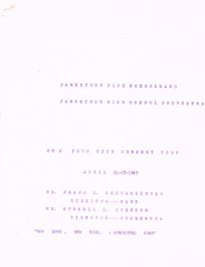 Band Orchestra NYC trip itinerary p.2 (terry lorenc) Tags: jhs class 1967 jamestown high school new york