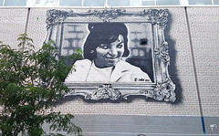 Tribute to Warshaw's Mrs Levy (Exile on Ontario St) Tags: warshaw mrs levy mural omen montreal mrslevy supermarket store market marché commerce building heritage landmark murale streetart urban street art urbain montréal saintlaurent saint laurent helen helenlevy florkevitz varshaw warsaw tribute hommage picture portrait wall mur graffiti retro photograph maison business grocery groceries plateau montroyal