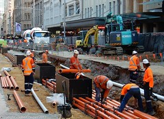 CBD & South East Light Rail - George Street - Update 24 July 2017 - 6 (john cowper) Tags: cselr sydneylightrail georgestreet queenvictoriabuilding conduit services communications power publicaddresssystem construction acconia transportfornsw altrac sydney newsouthwales