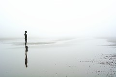 The Mist (Adventures with a Camera) Tags: statue antonygormley crosbybeach liverpool nikonphotography nikkor landscape