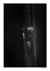 (michela.midossi) Tags: italy italia street strada blackandwhite biancoenero man rain rainy pioggia dark summerrain viterbo