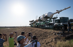 Expedition 52 Rollout (NHQ201707260020) (NASA HQ PHOTO) Tags: expedition52preflight baikonur kazakhstan expedition52 kaz baikonurcosmodrome soyuzrocket train soyuzms05 roscosmos nasa joelkowsky