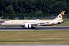 Etihad Airways | Boeing 787-9 | A6-BLC | Singapore Changi (Dennis HKG) Tags: etihad etihadairways etd ey abudhabi uae boeing 787 7879 dreamliner boeing787 boeing7879 aircraft airplane airport plane planespotting singapore changi wsss sin a6blc canon 7d 100400