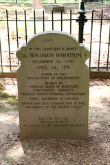 Col. Benjamin Harrison V, Signer of the Declaration of Independence (Beltway Photos) Tags: cemetery berkeleyhundred berkeleyplantation charlescity charlescitycounty virginia unitedstates plantation antebellum 1600s 1700s 1800s