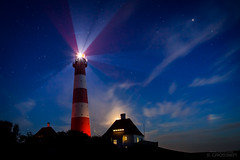 Lighthouse Westerhever Sand at Night (Hamburg PORTography) Tags: night nacht dark dunkel dunkelheit westerheversand westerhever sand lighthouse leuchtturm sankt peter ording spo 2017 hoonose68 germany deutschland canoneos6d canon eos 6d sgrossien grossien langzeitbelichtung longexposure againstautotagging