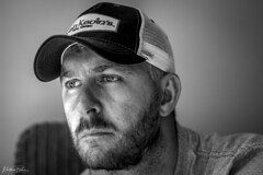 Self Portrait (mattpacker1978) Tags: blackandwhite black nocolour nocolor monochrome myself portrait baseball irish kevins home beard rustic canon canon700d canondigital canonphotography looking 50mm canon50mm 18