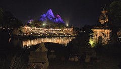 Night at the Forbidden Mountain (Thanks for over 2 million views!!) Tags: chadsparkesphotography centralflorida night animalkingdom expeditioneverest mounteverest reflections disney disneyworld disneysanimalkingdom lights lake lakebuenavistaflorida