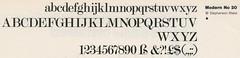 Stephenson Blake's Modern № 20 as offered by Letraset (Nick Sherman) Tags: type specimen modernno20 letraset stephensonblake type:face=modernno20 type:foundry=stephensonblake type:foundry=letraset
