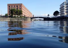 Dukes Dock (.annajane) Tags: dock liverpool merseyside wapping bridge dukesdock wappingwarehouse water uk england reflection