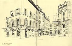 Rue des Grandes Arcades - Strasbourg (lolo wagner) Tags: usk croquis sketch strasbourg alsace