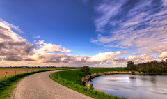 Westfriese Omringdijk. (Alex-de-Haas) Tags: oogvoornoordholland 1635mm d750 dutch europe hdr holland nederland nederlands nikkor nikon noordholland thenetherlands westfrisia westfriesland westfrieseomringdijk clouds landscape landschap lucht nature natuur skies sky water wolken