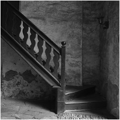 "Old Stair, Castle ""Hohenlimburg"" (Thunderbird61) Tags: castle stair old antik minimalism bw sw bn nb zw monochrome mediumformat zwartwit noireblanc schwarzweiss blackwhite blackandwhite bnw blacknwhite pentax pentax645z pentaxart"