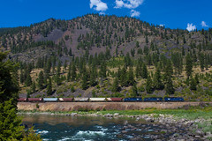 Quinns, MT (jameshouse473) Tags: mrl sd45 emd clark fork montana quinns river mountain train rail link missoula