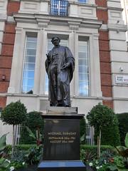 Michael Faraday (moley75) Tags: london centrallondon victoriaembankment michaelfaraday statue