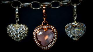 Three Heart Charms