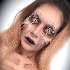 @akhanartistry (ineedhalloweenideas) Tags: ineedhalloweenideas halloween makeup make up ideas for 2017 happy october 31 autumn fall spooky body paint art creepy scary pumpkin boo artist