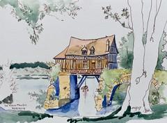 "IMG_2090 (alainhonoratlefebvre dit "" ALHO "") Tags: dessin aquarelle vernon normandie in situ"