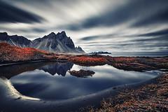 Vestrahorn Islande (EtienneR68) Tags: landscape bleu blue mer montagne mountain nature paysage vestrahorn snaefellsnes reflection reflet sea water sunrise marque a7r2 a7rii sony pays iceland islande