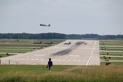 Blue Angels taxi as a T6 takes off (kschmidt626) Tags: blue airplane airshow angels milwaukee