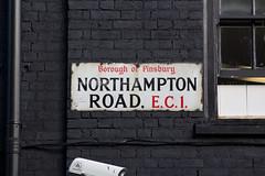 Northampton Road EC1 (alistairh) Tags: boroughoffinsbury ec1 enamel fraktur northamptonroad serif alistairbhall londonstreetnameplates