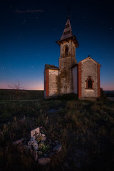 Vergalijo. (atvjavi) Tags: atvjavi navarra navarros navarre iglesia church vergalijo nocturna nocturnal horaazul estrellas stars lanscape paisaje