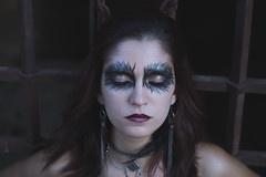 The Raven (estherblueberry) Tags: portrait girl raven artistic gothic makeup