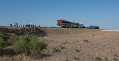 Expedition 52 Rollout (NHQ201707260019) (NASA HQ PHOTO) Tags: expedition52preflight baikonur kazakhstan expedition52 kaz baikonurcosmodrome soyuzrocket train soyuzms05 roscosmos nasa joelkowsky